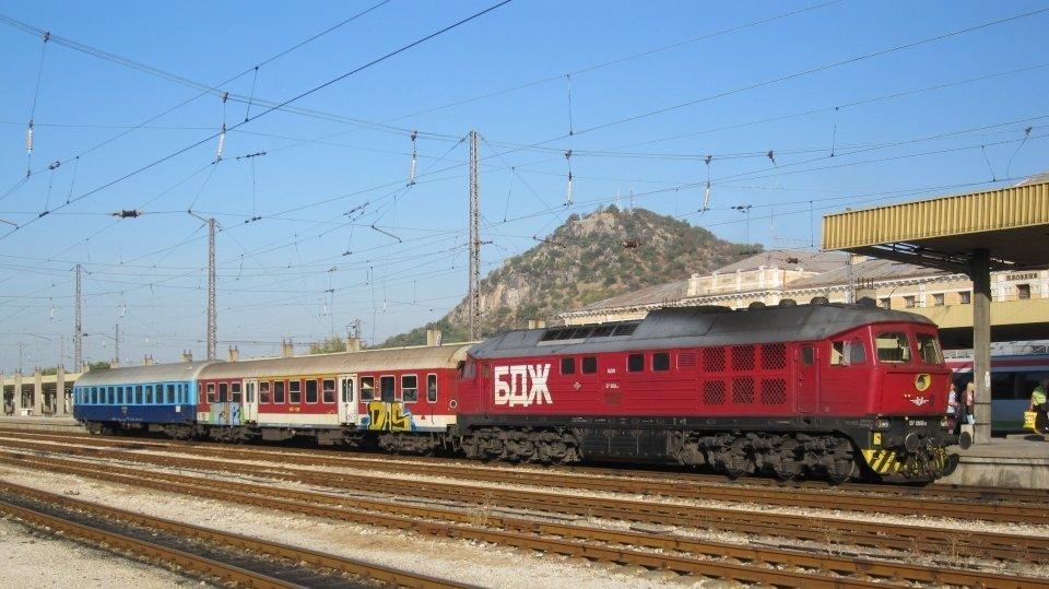 Поезда Болгарии: поезд в Пловдиве, Болгария