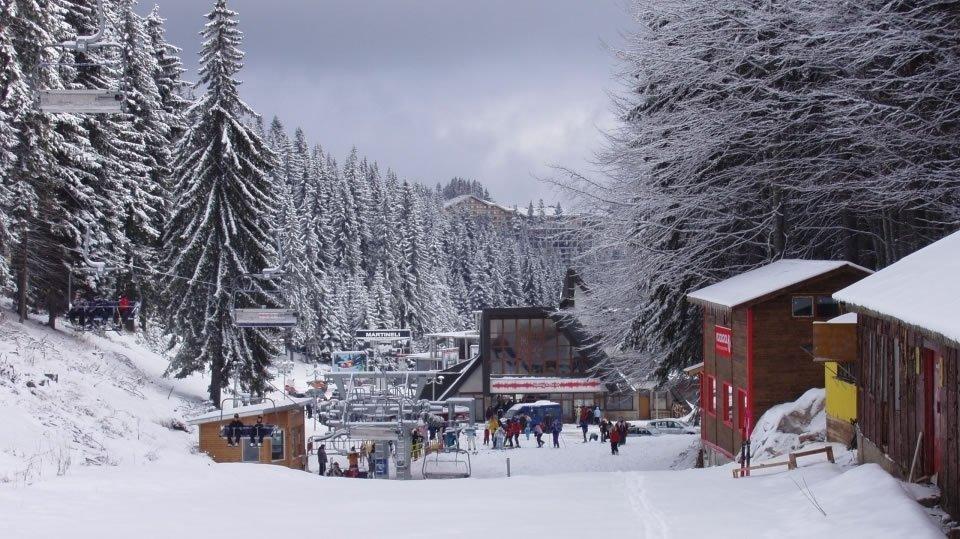 Горнолыжный курорт Пампорово у подножья горы Снежанка